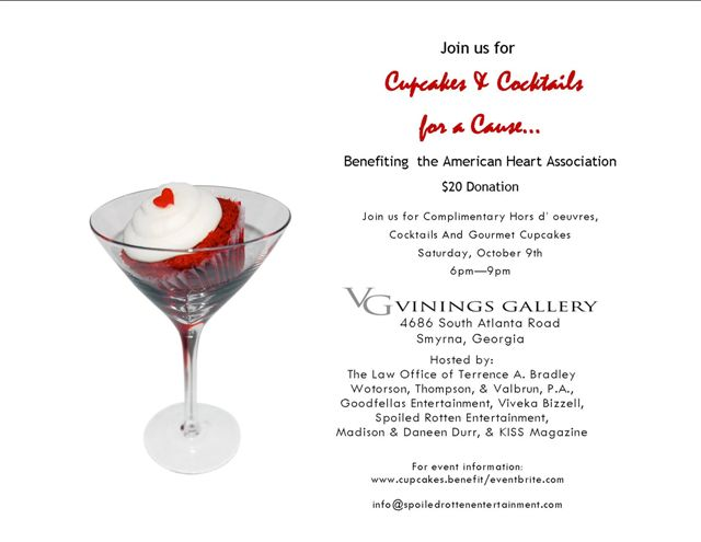 CUPCAKES AND COCKTAILS -For a Cause