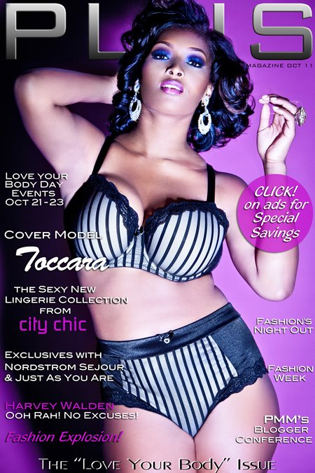 Tocarra graces Plus Model Magazine